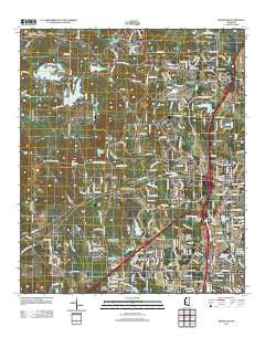Ridgeland Mississippi Historical topographic map, 1:24000 scale, 7.5 X 7.5 Minute, Year 2012