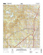 Ridgeland Mississippi Current topographic map, 1:24000 scale, 7.5 X 7.5 Minute, Year 2015 from Mississippi Map Store