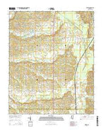Rienzi Mississippi Current topographic map, 1:24000 scale, 7.5 X 7.5 Minute, Year 2015 from Mississippi Map Store