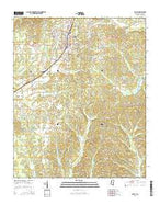 Ripley Mississippi Current topographic map, 1:24000 scale, 7.5 X 7.5 Minute, Year 2015 from Mississippi Map Store