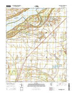Robinsonville Mississippi Current topographic map, 1:24000 scale, 7.5 X 7.5 Minute, Year 2015 from Mississippi Map Store