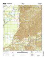 Rodney Mississippi Current topographic map, 1:24000 scale, 7.5 X 7.5 Minute, Year 2015 from Mississippi Map Store