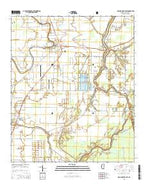 Rolling Fork East Mississippi Current topographic map, 1:24000 scale, 7.5 X 7.5 Minute, Year 2015 from Mississippi Map Store