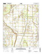 Rolling Fork West Mississippi Current topographic map, 1:24000 scale, 7.5 X 7.5 Minute, Year 2015 from Mississippi Map Store
