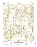 Rome Mississippi Current topographic map, 1:24000 scale, 7.5 X 7.5 Minute, Year 2015 from Mississippi Map Store