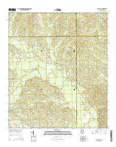 Rose Hill Mississippi Current topographic map, 1:24000 scale, 7.5 X 7.5 Minute, Year 2015