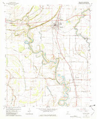 Ruleville Mississippi Historical topographic map, 1:24000 scale, 7.5 X 7.5 Minute, Year 1966