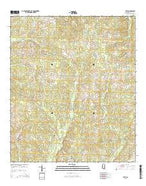Ruth Mississippi Current topographic map, 1:24000 scale, 7.5 X 7.5 Minute, Year 2015 from Mississippi Map Store
