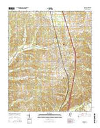 Sardis Mississippi Current topographic map, 1:24000 scale, 7.5 X 7.5 Minute, Year 2015 from Mississippi Map Store