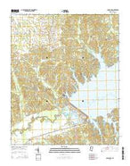 Sardis Dam Mississippi Current topographic map, 1:24000 scale, 7.5 X 7.5 Minute, Year 2015 from Mississippi Map Store