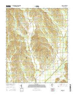 Sarepta Mississippi Current topographic map, 1:24000 scale, 7.5 X 7.5 Minute, Year 2015 from Mississippi Map Store
