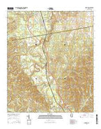 Shubuta Mississippi Current topographic map, 1:24000 scale, 7.5 X 7.5 Minute, Year 2015 from Mississippi Map Store