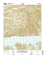 Shuford Mississippi Current topographic map, 1:24000 scale, 7.5 X 7.5 Minute, Year 2015 from Mississippi Map Store