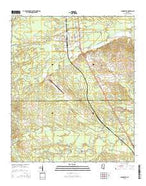Shuqualak Mississippi Current topographic map, 1:24000 scale, 7.5 X 7.5 Minute, Year 2015 from Mississippi Map Store