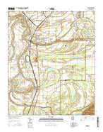 Sidon Mississippi Current topographic map, 1:24000 scale, 7.5 X 7.5 Minute, Year 2015 from Mississippi Map Store