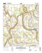 Silver City Mississippi Current topographic map, 1:24000 scale, 7.5 X 7.5 Minute, Year 2015 from Mississippi Map Store