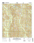 Silver Run Mississippi Current topographic map, 1:24000 scale, 7.5 X 7.5 Minute, Year 2015 from Mississippi Map Store