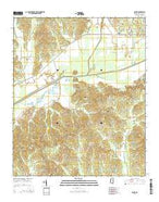 Skuna Mississippi Current topographic map, 1:24000 scale, 7.5 X 7.5 Minute, Year 2015 from Mississippi Map Store