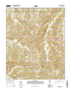 Slayden Mississippi Current topographic map, 1:24000 scale, 7.5 X 7.5 Minute, Year 2015 from Mississippi Map Store