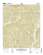 Smithdale Mississippi Current topographic map, 1:24000 scale, 7.5 X 7.5 Minute, Year 2015 from Mississippi Map Store