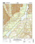 Smithville Mississippi Current topographic map, 1:24000 scale, 7.5 X 7.5 Minute, Year 2015 from Mississippi Map Store