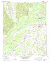 Smithville Mississippi Historical topographic map, 1:24000 scale, 7.5 X 7.5 Minute, Year 1966