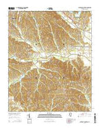 Southeast Pontotoc Mississippi Current topographic map, 1:24000 scale, 7.5 X 7.5 Minute, Year 2015 from Mississippi Map Store