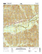 Stewart Mississippi Current topographic map, 1:24000 scale, 7.5 X 7.5 Minute, Year 2015 from Mississippi Map Store
