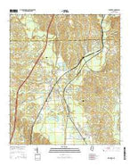 Stonewall Mississippi Current topographic map, 1:24000 scale, 7.5 X 7.5 Minute, Year 2015 from Mississippi Map Store