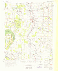 Swan Lake Mississippi Historical topographic map, 1:62500 scale, 15 X 15 Minute, Year 1969