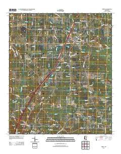 Terry Mississippi Historical topographic map, 1:24000 scale, 7.5 X 7.5 Minute, Year 2012