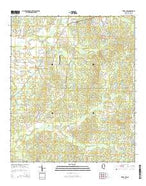 Terry NW Mississippi Current topographic map, 1:24000 scale, 7.5 X 7.5 Minute, Year 2015 from Mississippi Map Store