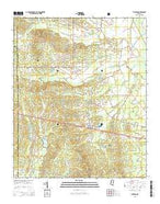 Thaxton Mississippi Current topographic map, 1:24000 scale, 7.5 X 7.5 Minute, Year 2015 from Mississippi Map Store