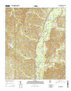 Thomastown Mississippi Current topographic map, 1:24000 scale, 7.5 X 7.5 Minute, Year 2015 from Mississippi Map Store