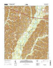Tremont Mississippi Current topographic map, 1:24000 scale, 7.5 X 7.5 Minute, Year 2015 from Mississippi Maps Store