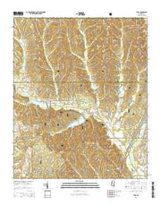 Troy Mississippi Current topographic map, 1:24000 scale, 7.5 X 7.5 Minute, Year 2015 from Mississippi Maps Store