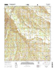 Troy SE Mississippi Current topographic map, 1:24000 scale, 7.5 X 7.5 Minute, Year 2015 from Mississippi Maps Store