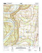 Tunica Mississippi Current topographic map, 1:24000 scale, 7.5 X 7.5 Minute, Year 2015 from Mississippi Map Store