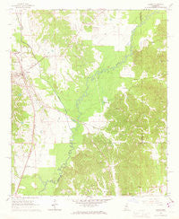 Vaiden Mississippi Historical topographic map, 1:24000 scale, 7.5 X 7.5 Minute, Year 1966