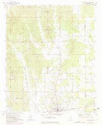 Vardaman Mississippi Historical topographic map, 1:24000 scale, 7.5 X 7.5 Minute, Year 1972