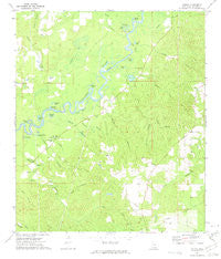 Vernal Mississippi Historical topographic map, 1:24000 scale, 7.5 X 7.5 Minute, Year 1972