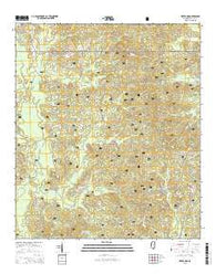 Water Oak Mississippi Current topographic map, 1:24000 scale, 7.5 X 7.5 Minute, Year 2015