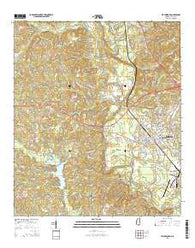 Waynesboro Mississippi Current topographic map, 1:24000 scale, 7.5 X 7.5 Minute, Year 2015