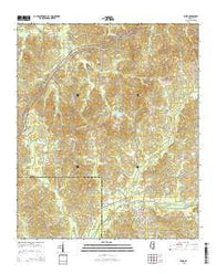 Weir Mississippi Current topographic map, 1:24000 scale, 7.5 X 7.5 Minute, Year 2015