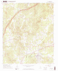 Weir Mississippi Historical topographic map, 1:24000 scale, 7.5 X 7.5 Minute, Year 1966