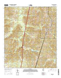 Wesson Mississippi Current topographic map, 1:24000 scale, 7.5 X 7.5 Minute, Year 2015