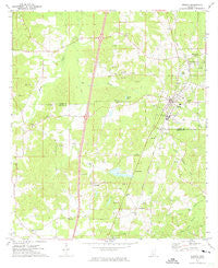 Wesson Mississippi Historical topographic map, 1:24000 scale, 7.5 X 7.5 Minute, Year 1972