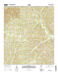 West Lincoln Mississippi Current topographic map, 1:24000 scale, 7.5 X 7.5 Minute, Year 2015