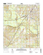 West Point Mississippi Current topographic map, 1:24000 scale, 7.5 X 7.5 Minute, Year 2015 from Mississippi Map Store