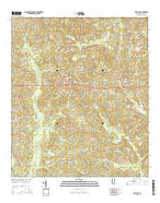 Whistler Mississippi Current topographic map, 1:24000 scale, 7.5 X 7.5 Minute, Year 2015 from Mississippi Map Store